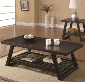 The Coaster Home Furnishings Casual Coffee Table in Cappuccino