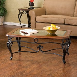 Prentice Cocktail Table, wrought iron coffee table