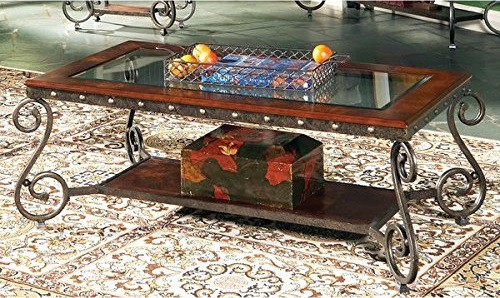 Greyson Living Este Glass Insert Coffee Table
