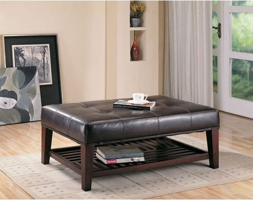 Convenience Concepts Designs 4 Comfort Storage Ottoman with Trays